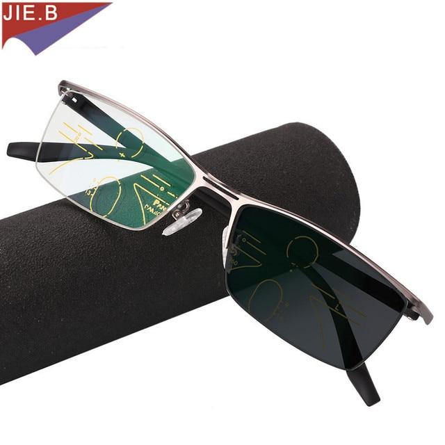 Gafas de sol de transición Multifocal progresiva para hombre, gafas de lectura fotocromáticas de puntos para lector, visión de lejos, novedad de 2019