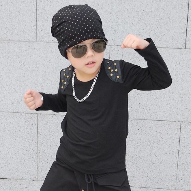 2017 Bahar Payız Yeni Moda Oğlan Uşaqları Üst o boyunlu diş - Uşaq geyimləri - Fotoqrafiya 1