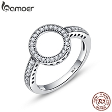 100% Genuine 925 Sterling Silver Forever Clear Black CZ Ring