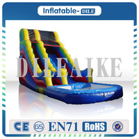 0.55mm PVC Giant inflatable castle slide jumping bouncing tarpaulin inflatable slide for sale