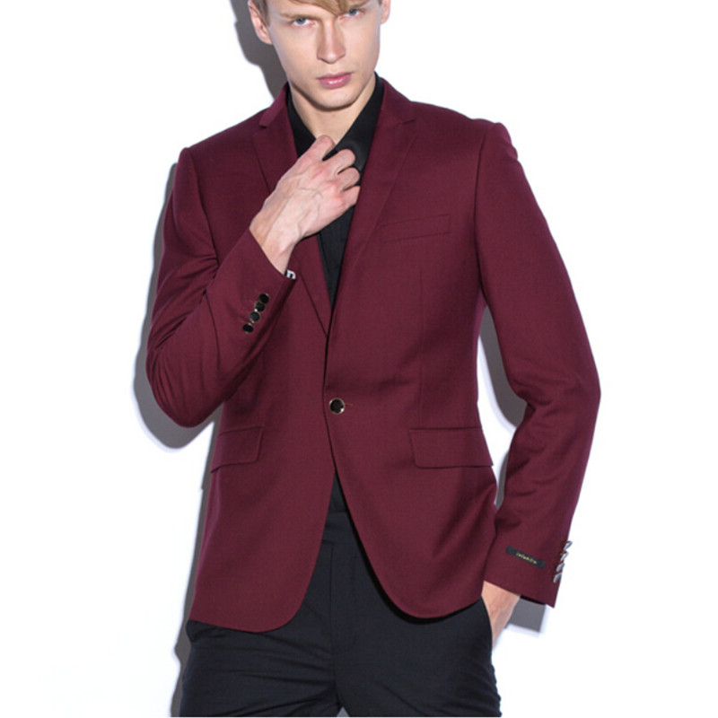Costumes Occasionnel The custom Bouton Hommes Un Made Nouveau 2017 Homme As Beau Costume Pour Pantalon Slim Image Affaires Parti manteau Fit as Image Formelle Marié Blazer n7wSvRZXqx