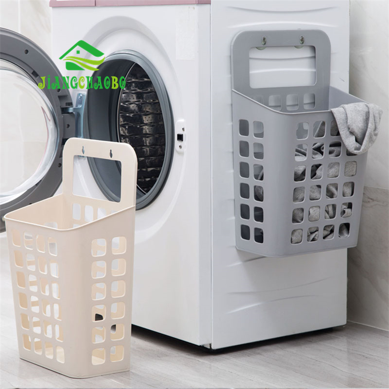 JiangChaoBo Suction Cup Hanging Hamper Dirty Clothes Storage Basket Plastic Storage Basket Large Laundry Basket Laundry Basket