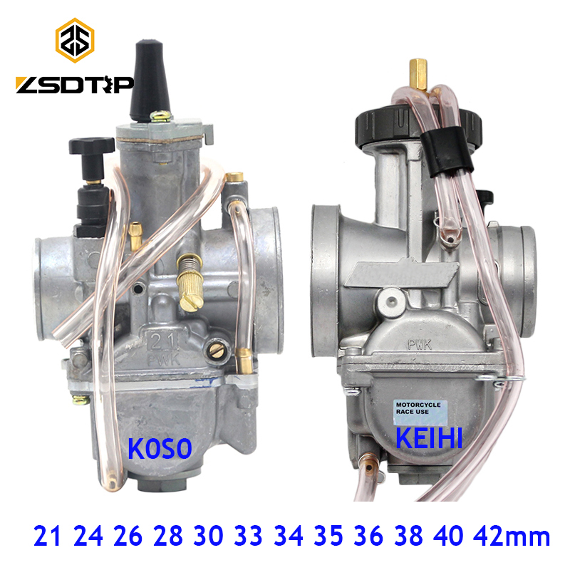 ZSDTRP Universal 21 24 26 28 30 32 33 34 35 36 38 40 42mm PWK Motorcycle Carburetor Carburador For Keihin Koso ATV Power Jet