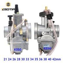 ZSDTRP Carburador Universal para motocicleta, Carburador PWK de 21, 24, 26, 28, 30, 32, 33, 34, 35, 36, 38, 40 y 42mm para Keihin Koso ATV Power Jet