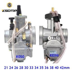 Image 1 - ZSDTRP Universal 21 24 26 28 30 32 33 34 35 36 38 40 42mm PWK carburatore carburatore moto per Keihin Koso ATV Power Jet