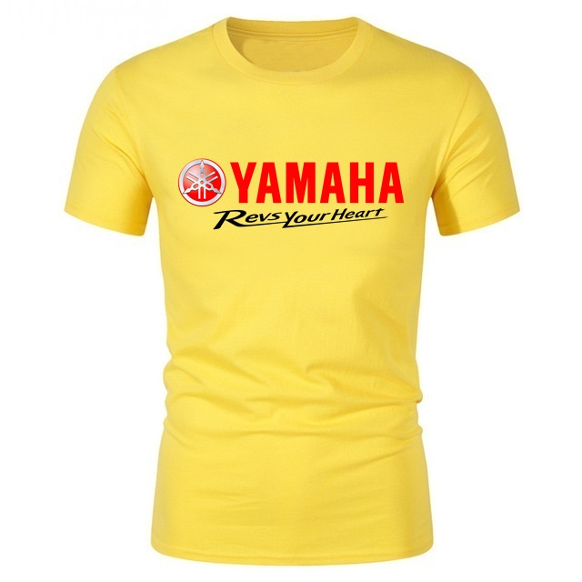 Men's T Shirt Yamaha Logo Revs Your Heart Manner Printed Tshirt Sport Men/woman Cool Cotton T-shirts Youth Short Sleeve Tops Tee