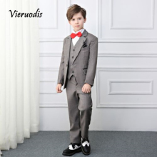 New Boys Party Graduation Suit Wedding Tuxedos Page Boy Slim Kids 3 Pcs Suits sanmen page 3