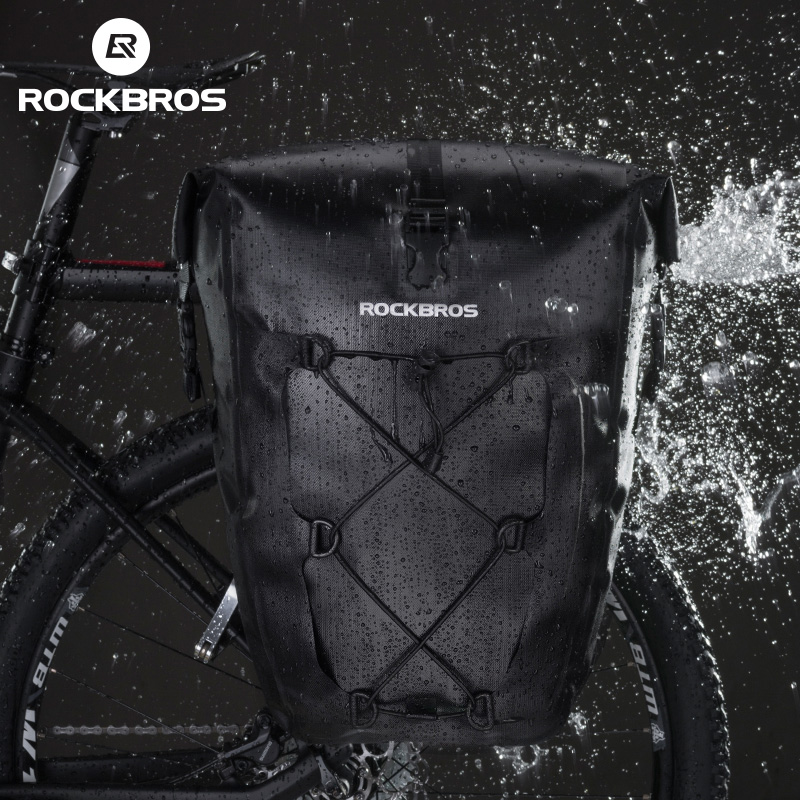 ROCKBROS Cycling Bike Bag Waterproof Bicycle Rear Rack Bag Tail Seat Trunk Bags Pannier 27L Big Basket Case MTB Bike Accessories-in Bicycle Bags & Panniers from Sports & Entertainment    3