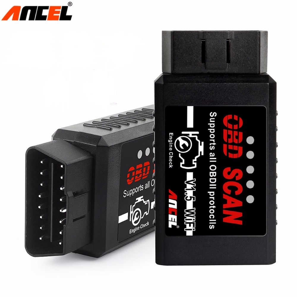 Ancel ELM327 V1.5 OBD2 Scanner WiFi Diagnostic Tool Android IOS OBD 2 Car Diagnostics Code Reader Erase Errors Auto OBD Scanner