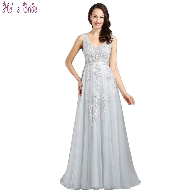 He s Bride Evening Dress Banquet Elegant Bride Lace Embroidery Beading  Cover Back Long Prom Formal Party Gown Custom Plus Size b0b8bae9cf55