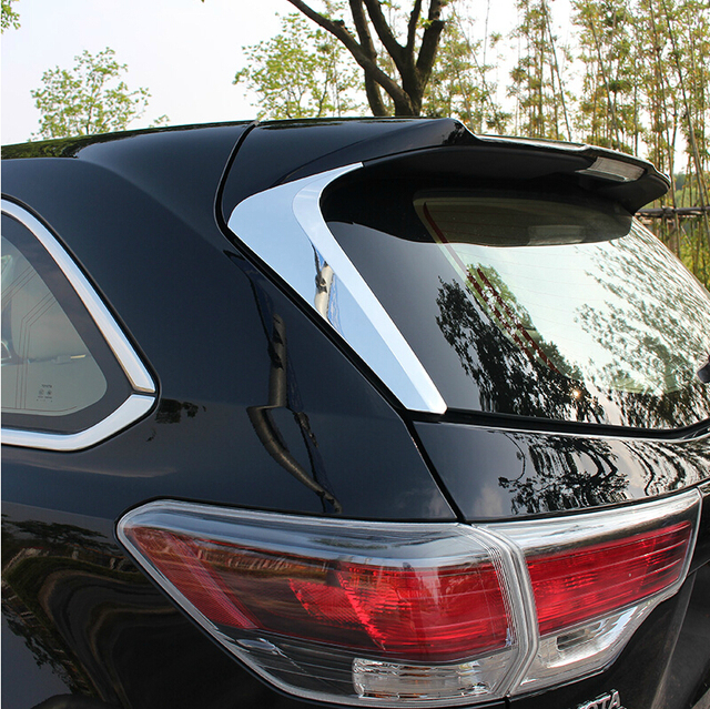 For Toyota Highlander 2015 Car special modified rear triangle window mirror sequins decorated rear window trim