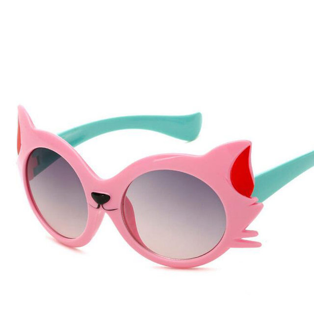 Candy Color Cat Eye Children Sun Glasses For Kids Sunglasses UV400 ...