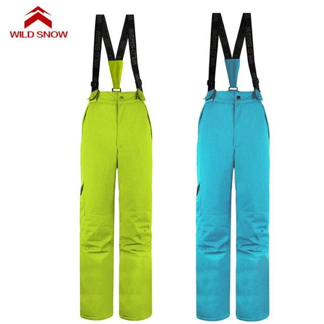 a41af5309c Women s Water Repellent Ski Pants Winter Outdoor Sport Snowboarding Bib  Pant Overalls Windproof Snow Skiing Trousers S-XXL