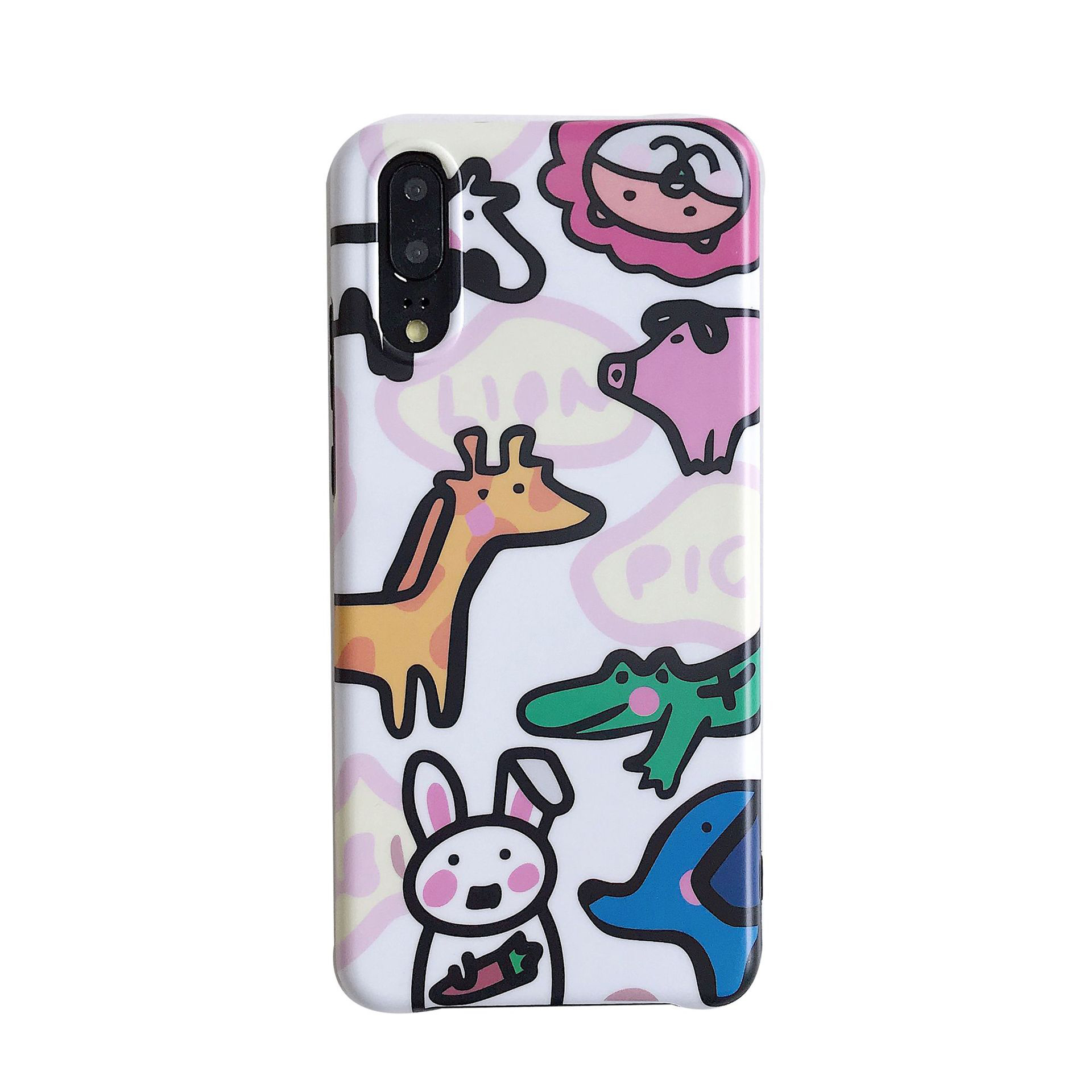 3d cartoon animal tpu case For huawei P20 lite mate 20 10 pro nova 3i 3 honor 10 case cover ins cute painted soft silicon phone in Fitted Cases from Cellphones Telecommunications