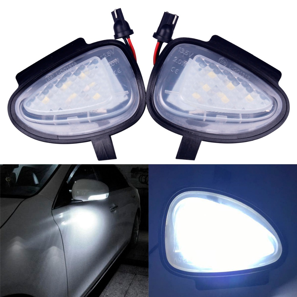 2 X Turn Signal Lights Under Side Mirror Puddle 6 LED Lights for VW GTi/Golf MK6 6/MKVI 2010-2014 2pcs white under led side mirror puddle light lamp for vw golf gti mk6 6 mkvi 2010 2014