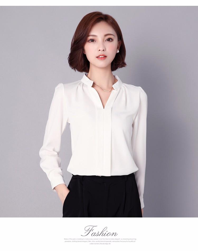 HTB1421bLpXXXXXPXpXXq6xXFXXXg - Long Sleeve Elegant Ladies Office Shirts Fashion Casual Slim Women
