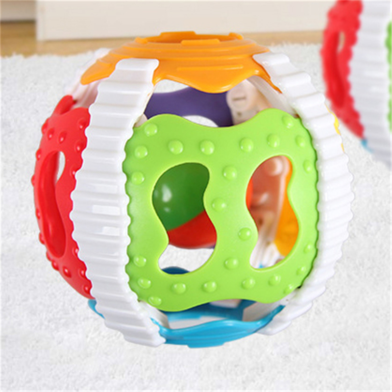 Baby Creative Hand Bell Ball  Toy Rattles Develop Intelligence Rattle TOY MA