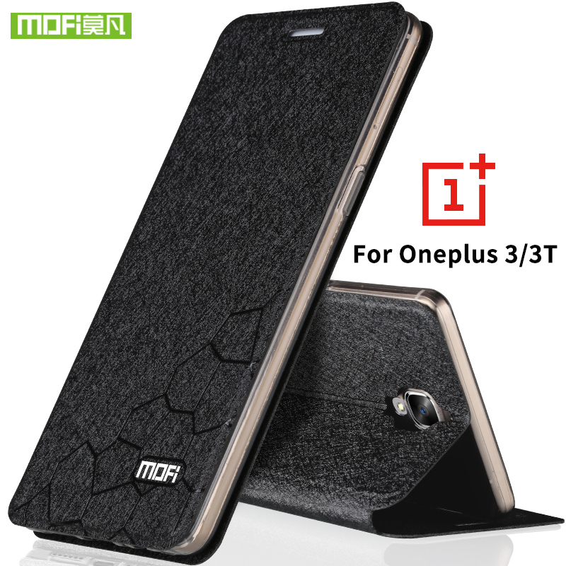 oneplus 3 case original oneplus 3T case cover silicon leather hard back protection MOFi one plus 3 3T cover case oneplus 3 capas