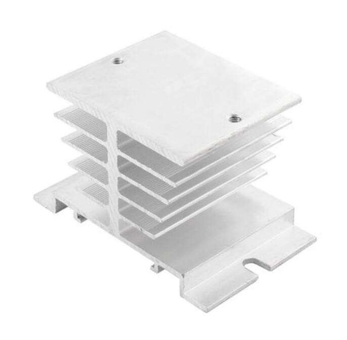1pc Single Phase Solid State Relay SSR Aluminum Heat Sink Dissipation Radiator Newest,,Suitable for 10A-40A relay ssr 40da single phase solid state relay white silver