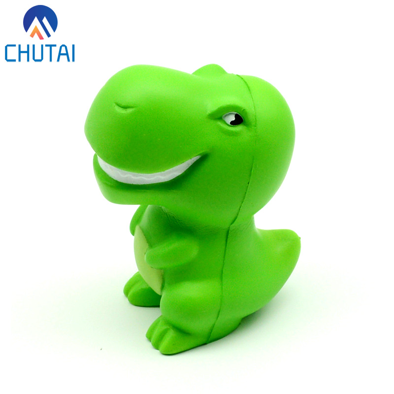 Kawaii Jumbo Green Cartoon Dinosaur Squishy Slow Rising Squeeze Toys PU Simulation Stress Relief Vent Toy For Kids Adult 10*7 CM