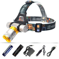 Diving Headlamp XML T6 3800 Lumen LED Headlight Underwater Waterproof Scuba Dive Head Torch Light Swimming Lamp by 18650 Battery