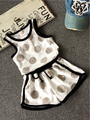 Summer New Children's Clothing Girls Sets Sleeveless Polka Dot Vest + Shorts Two-piece Leisure Suit