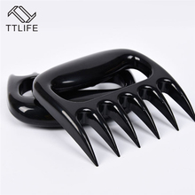 TTLIFE Manual Bear Claws Barbecue Fork Tongs Pull Meat Handler Pork Clamp Roasting Fork BBQ Tools Kitchen Cooking Tool fine cooking roasting