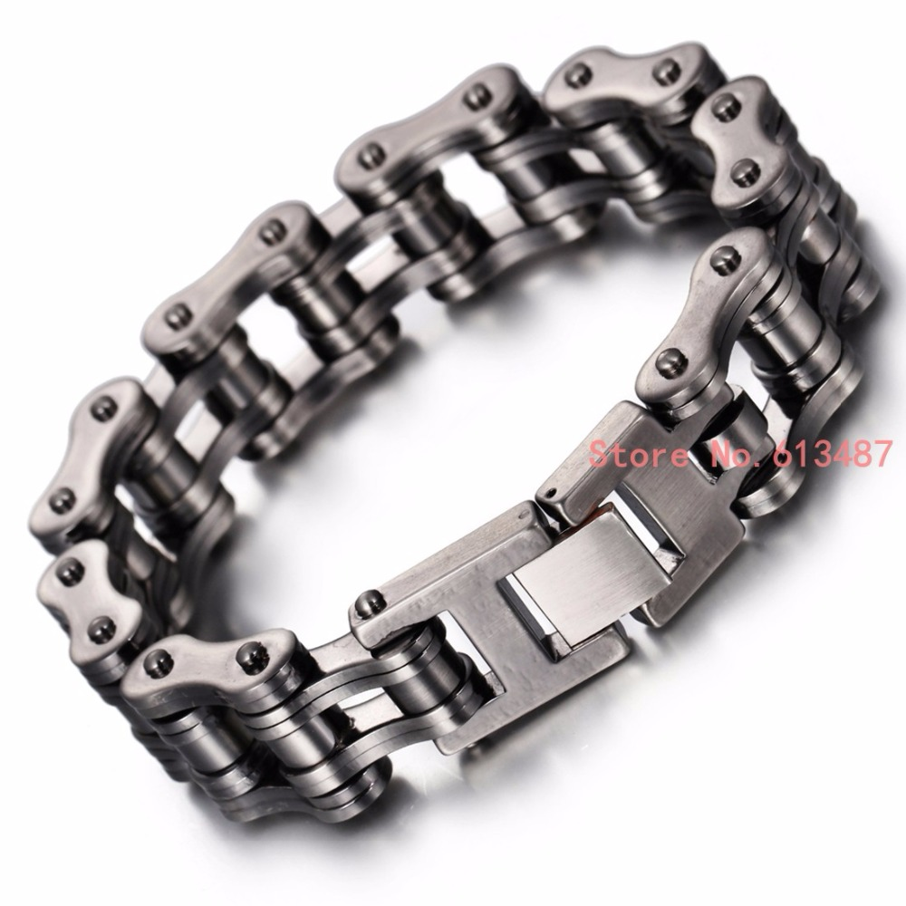 Punk 316L Stainless Steel Bracelet Men Biker Bicycle Motorcycle Chain Men's Bracelets Mens Bracelets & Bangles Fashion Jewelry buy mens string bracelets