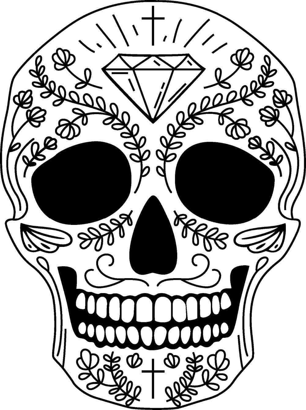 AWOO Skull Wall Sticker Skull Punk Rock Creative Removable