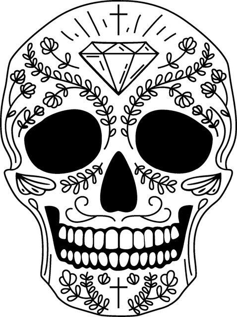 Skull Wall Sticker Skull Punk Rock Creative Removable Vinyl Wall Art ...