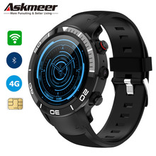 ASKMEER H8 Men Smart Watch 4G WIFI GPS Sport Watch Phone Android 7.1 OS MTK6739 1G 16GB IP68 waterproof Smartwatch 5.0MP Camera hot m9 4g smart watch waterproof ip67 sport smartwatch wireless wifi bluetooth smart watch men for andriod 6 0 support ios 1g 8g