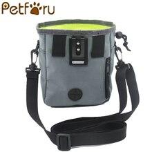 Petforu Durable Dog Pet Backpack Light Weight Ultra-Large Pet Snack Bag Dogs Training Waist Bag With Belt - Grey