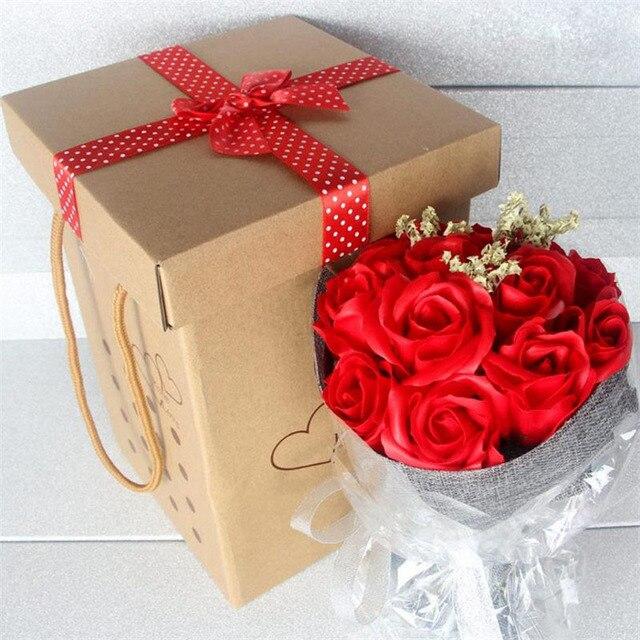 11 Flower Soap Flower Hand Held Flower Gift Box Valentine S Day