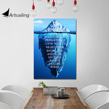 ArtSailing HD print 1 piece canvas art inspirational quotes home decoration accessories modern wall Poster UP-2430D
