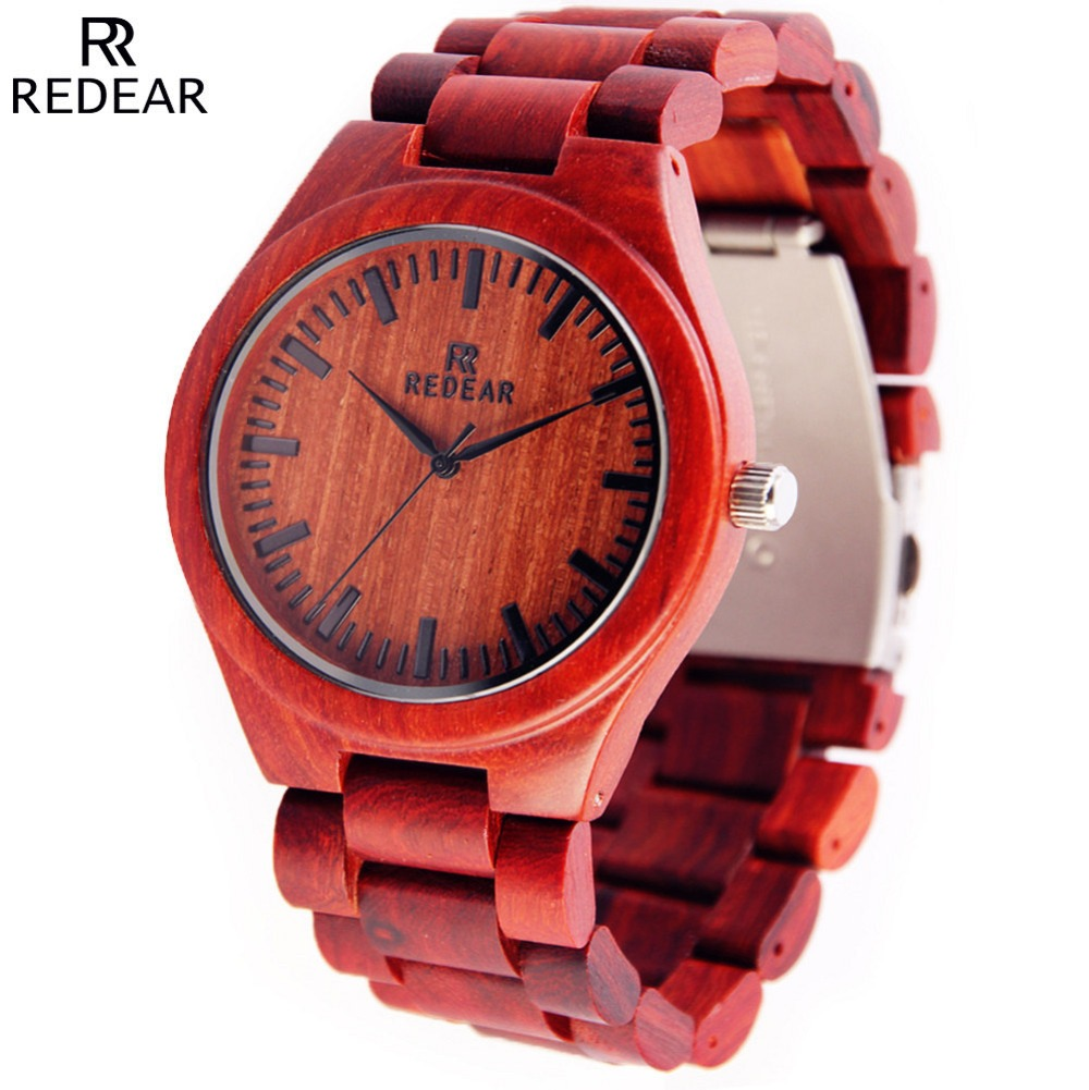 Подробнее о Top Popular Red Sandal Wooden Watch Men Japan Quartz Movement Wristwatch Luxury Brand REDEAR Natural Wood Women Watches Relojes japan style men s watch natural wooden wristwatch wood quartz watch box nice gifts for men relogio masculino 2016 luxury brand