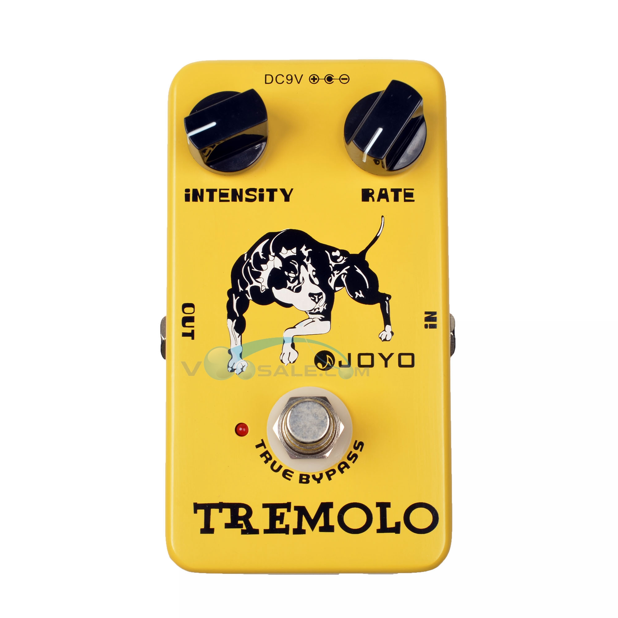 JOYO JF-09 Tremolo Effects Pédale de guitare Tompbox Intensité Taux ajustable True Bypass Accessoires de guitare Effets Mini Guitar