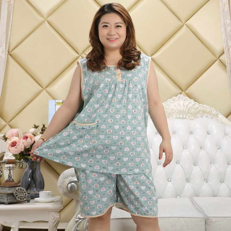 d0b37d55b ... Free Shipping 2017 Women Summer Plus Size 100% Cotton Nightgown Female  Large Size Sleeveless sleepwear ...