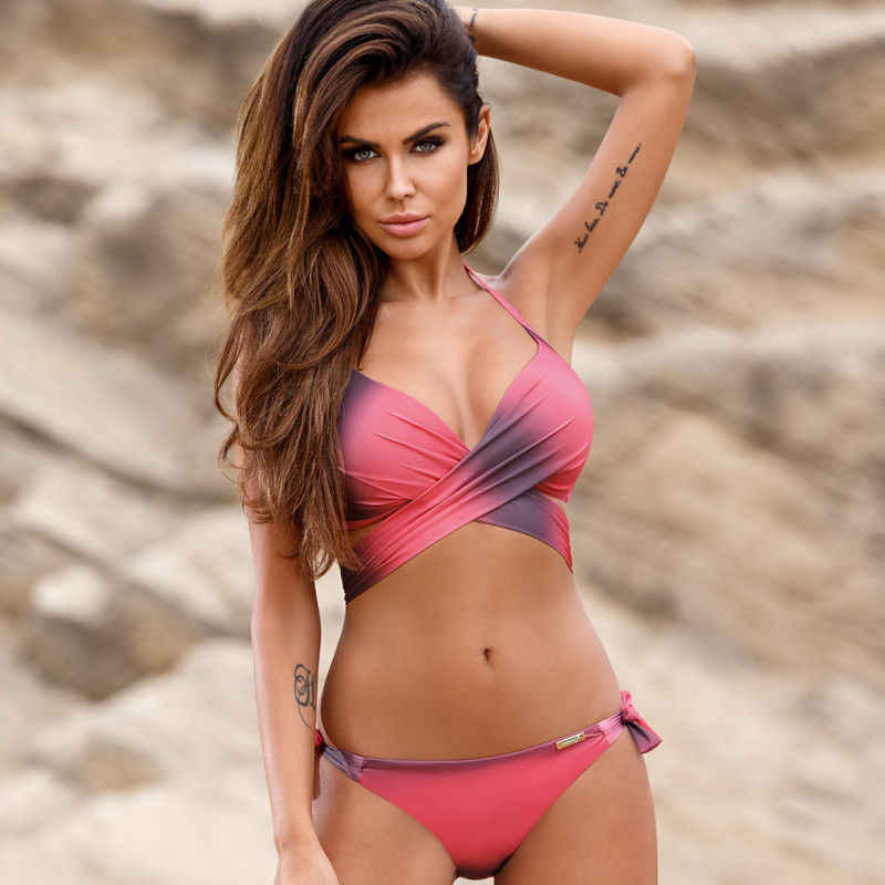 Womens Padded Push-up Bra Bikini Set Swimsuit Bathing Suit Swimwear Beachwear