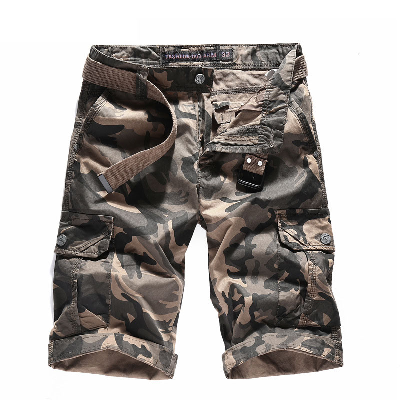 2018 New Camouflage Shorts Men Mens Cargo Military Bermuda Shorts Mens Denim Beach Board Shorts Boradshorts Short Jeans Male
