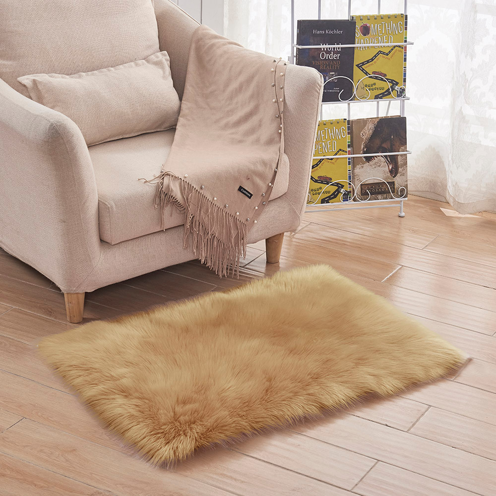 Floor Mat Soft Rug Chair Cover Artificial Sheepskin Wool