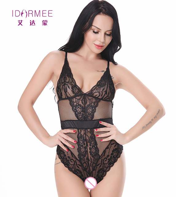 Sexy teddy lingerie lace lingerie fashion black