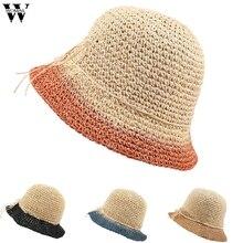 Womail женская шляпа летняя женская шляпа соломенная шляпка пляжная Складная сворачивающаяся Кепка Солнцезащитная уличная мода Повседневная Новинка A19