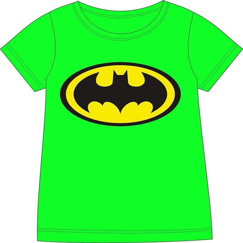 Kid T Shirt Short Sleeve Round Neck T Shirt 100 Cotton Green Batman