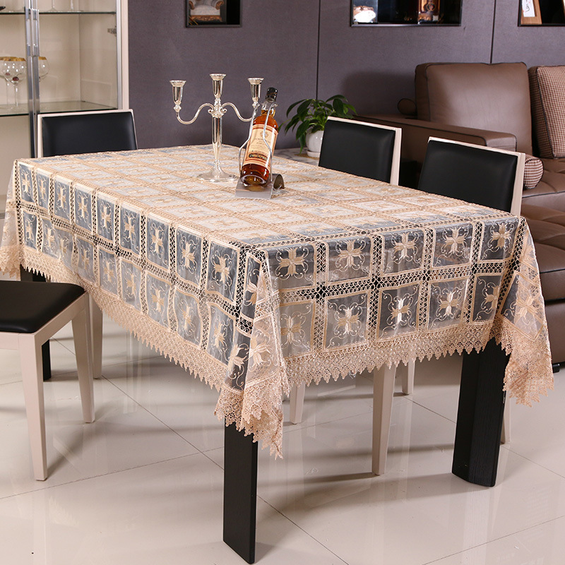 Tablecloths Lattice Lace Table Cloths Printed Hollow Cotton Toalha De Mesa  Wedding Decoration Picnic Tablecloth Fabric