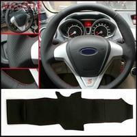 Voiture-style Artificielle En Cuir Couverture De Volant de Voiture pour Ford Fiesta 2008-2013 Ecosport 2013-2016 Voiture accessoires