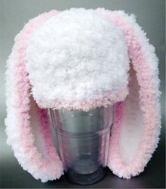 Free shipping,Crochet Knit Baby Hat Newborn Large Ears Rabbit Winter ...