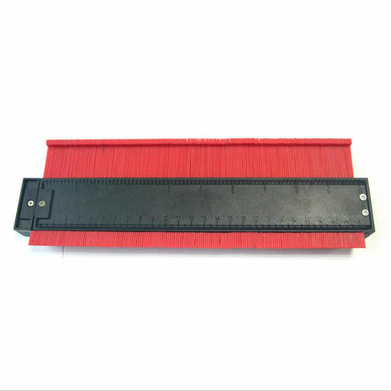 250mm תבנית עקמומיות בקנה מידה שליט קונטור-מד רבד שטיח עץ אריח פרופיל למדוד שליט עם מגנט