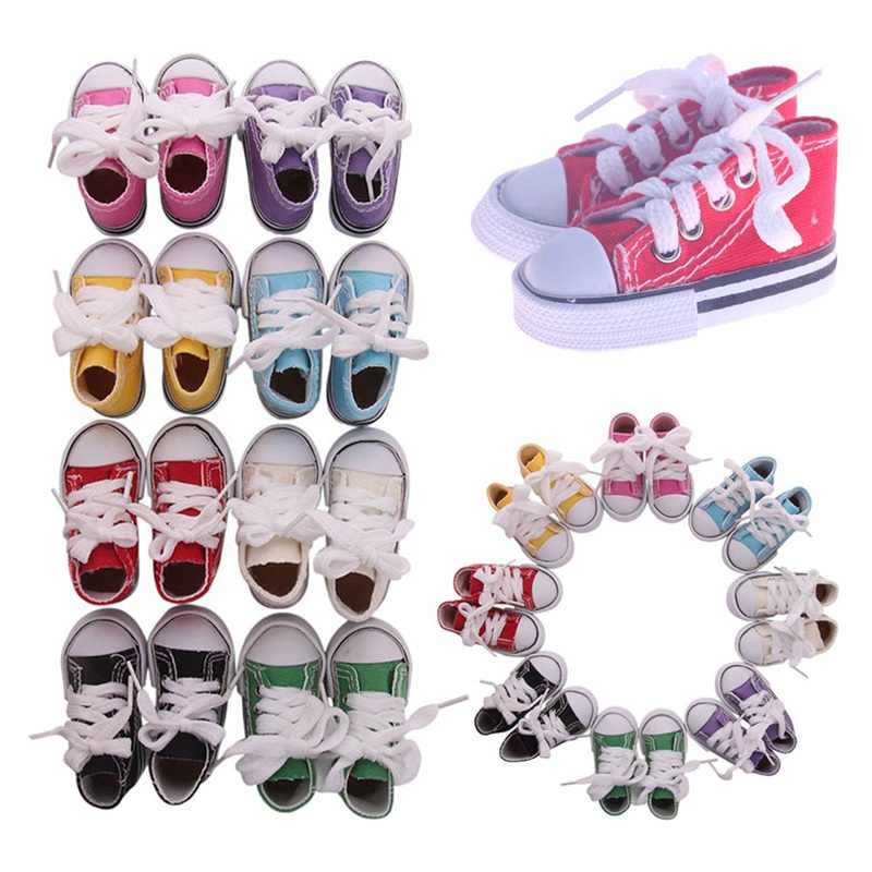 7.5cm Baby Doll Shoes For Girl Dolls Baby Doll Clothes Accessories Fashion Handmade Sneakers