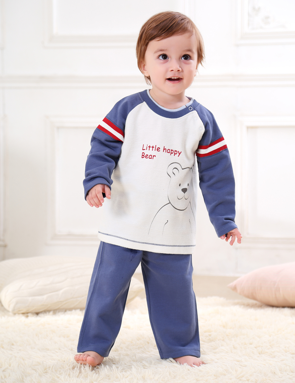 Baby Boys Clothing Set Baby Boy Clothes Outerwear Interloop Baby Fleece Wear Fashion Autumn Winter 100% Cotton Knitted ...