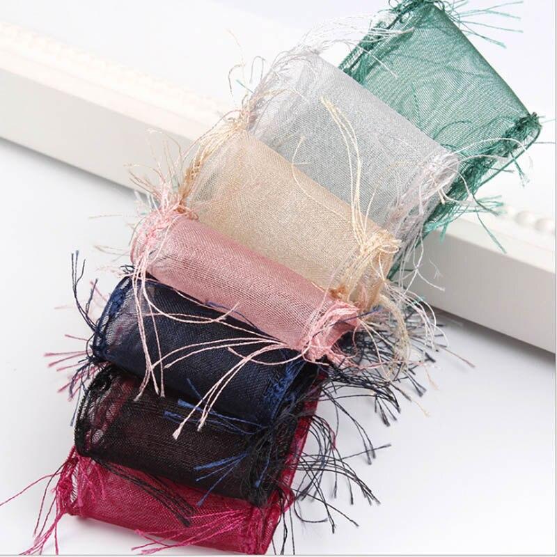 Ruban en Organza de bord brut en Nylon bricolage accessoires de cheveux faits à la main matériel arc 25 38 50 MM 1